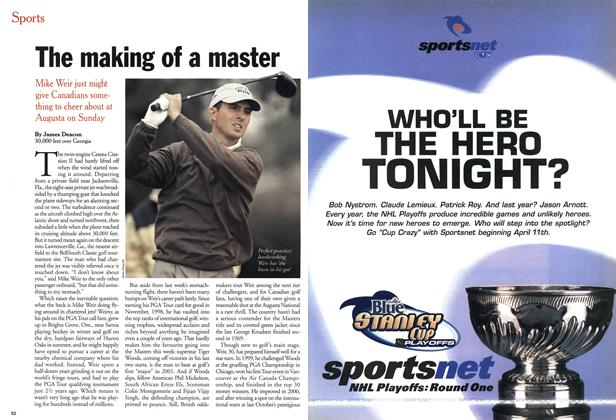Article Preview: The making of a master, April 2001 | Maclean's