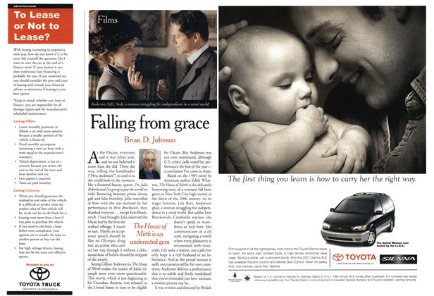 Article Preview: Falling from grace, April 2001 | Maclean's