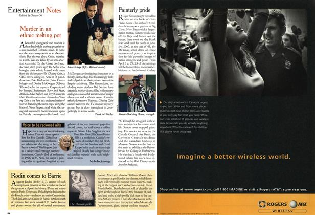 Article Preview: Entertainment Notes, April 2001 | Maclean's