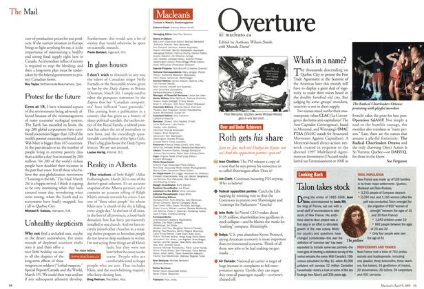 Article Preview: Overture, April 2001 | Maclean's