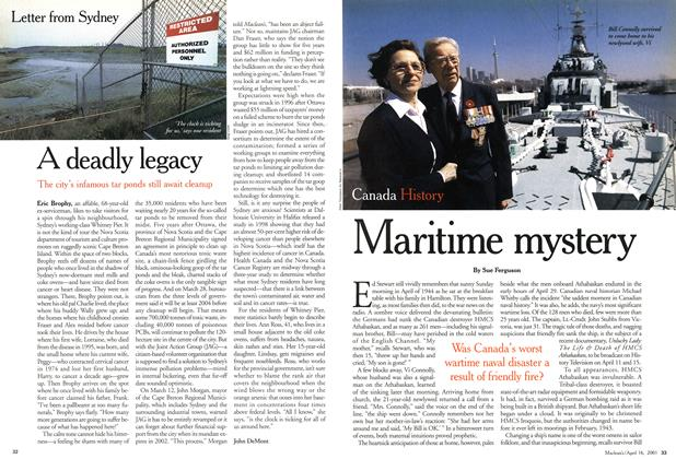 Article Preview: Maritime mystery, April 2001 | Maclean's