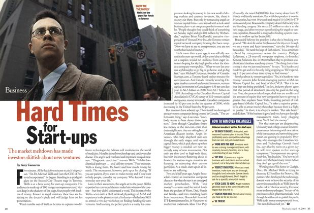 Article Preview: Hard Times for Start-ups, April 2001 | Maclean's