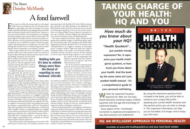Article Preview: A fond farewell, April 2001 | Maclean's