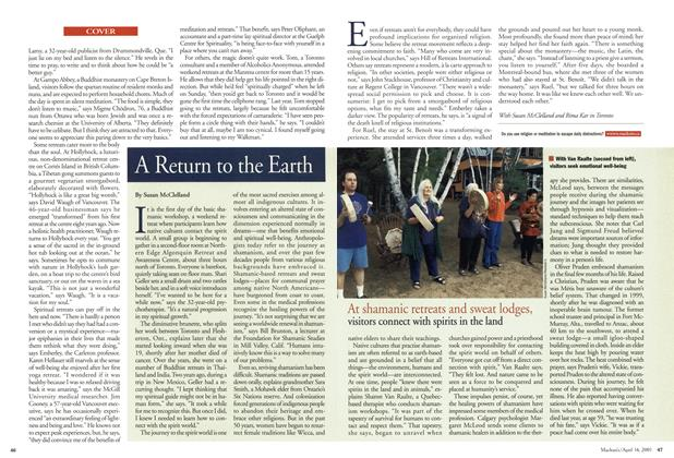 Article Preview: A Return to the Earth, April 2001 | Maclean's