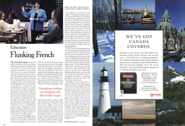 Article Preview: Flunking French, April 2001 | Maclean's