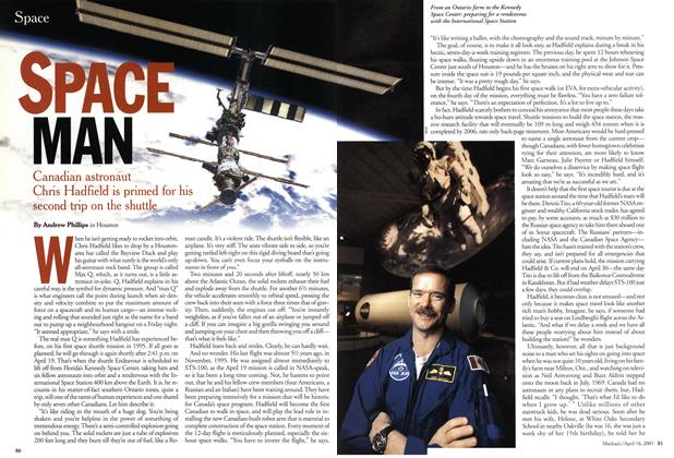 Article Preview: SPACE MAN, April 2001 | Maclean's