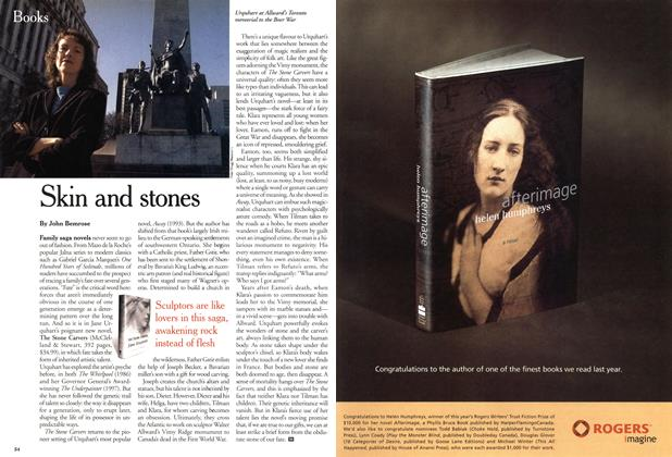 Article Preview: Skin and stones, April 2001 | Maclean's