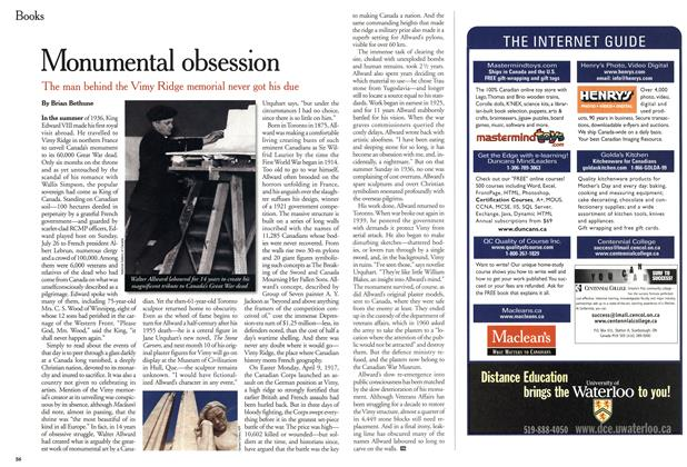 Article Preview: Monumental obsession, April 2001 | Maclean's