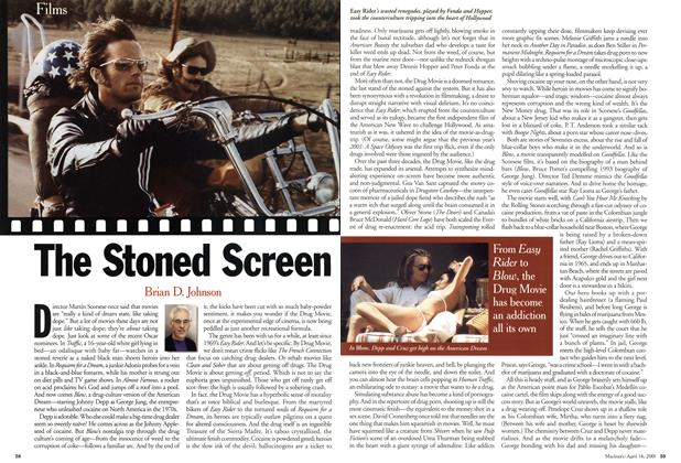 Article Preview: The Stoned Screen, April 2001 | Maclean's