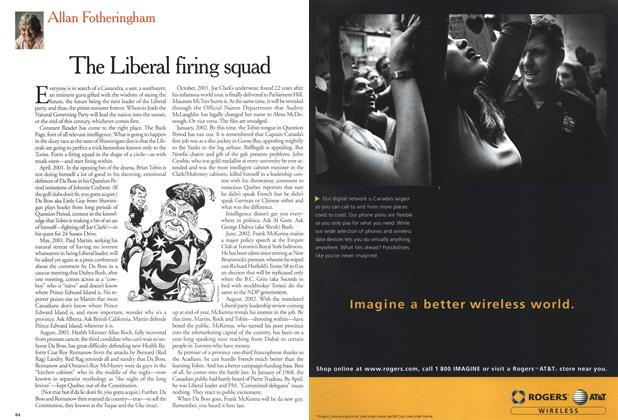 Article Preview: The Liberal firing squad, April 2001 | Maclean's