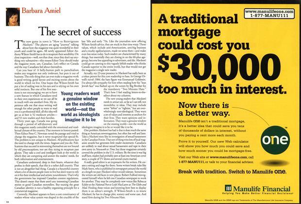 Article Preview: The secret of success, April 2001 | Maclean's
