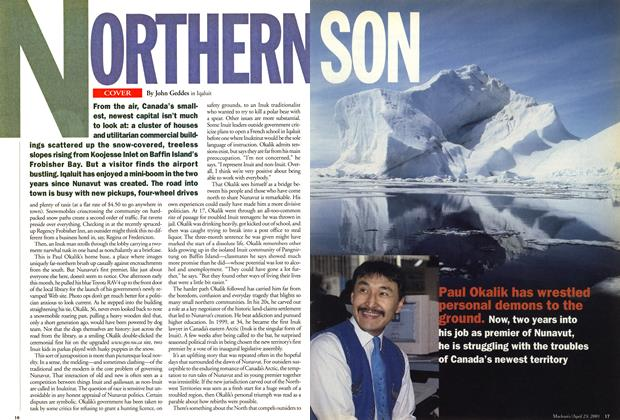 Article Preview: NORTHERN SON, April 2001 | Maclean's