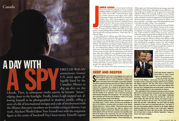 Article Preview: DEEP AND DEEPER, April 2001 | Maclean's
