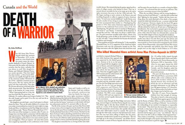 Article Preview: DEATH OF A WARRIOR, April 2001 | Maclean's