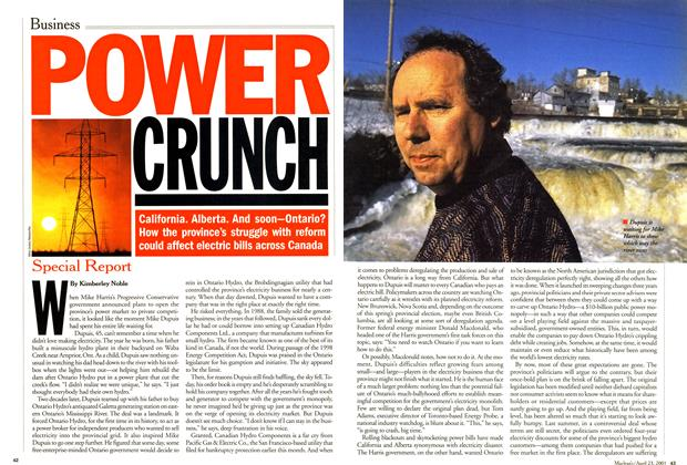 Article Preview: POWER CRUNCH, April 2001 | Maclean's