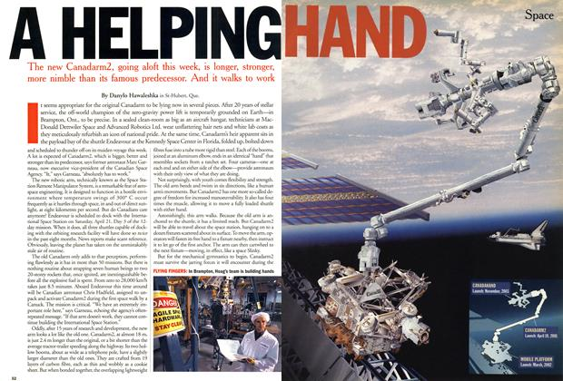 Article Preview: A HELPING HAND, April 2001 | Maclean's