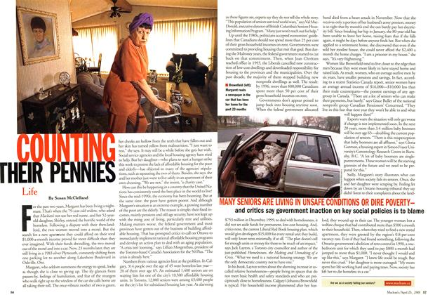 Article Preview: COUNTING THEIR PENNIES, April 2001 | Maclean's