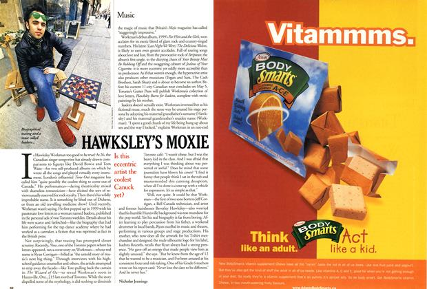 Article Preview: HAWKSLEY'S MOXIE, April 2001 | Maclean's