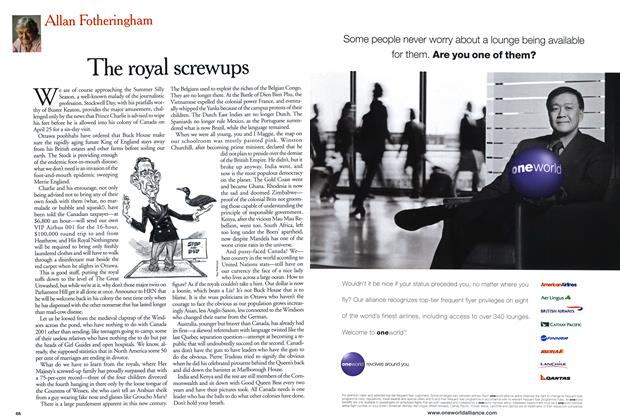 Article Preview: The royal screwups, April 2001 | Maclean's