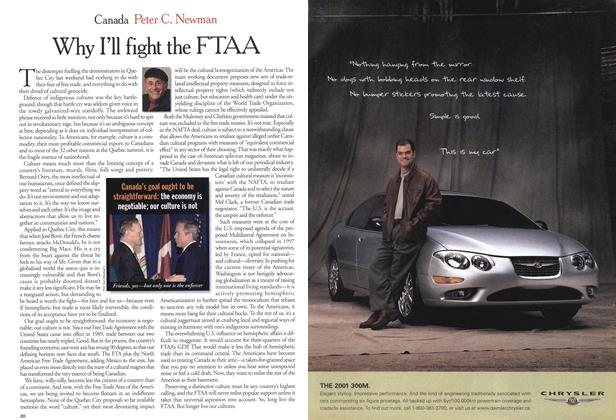 Article Preview: Why I'll fight the FTAA, April 2001 | Maclean's
