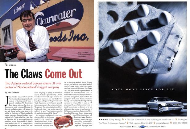 Article Preview: The Claws Come Out, April 2001 | Maclean's