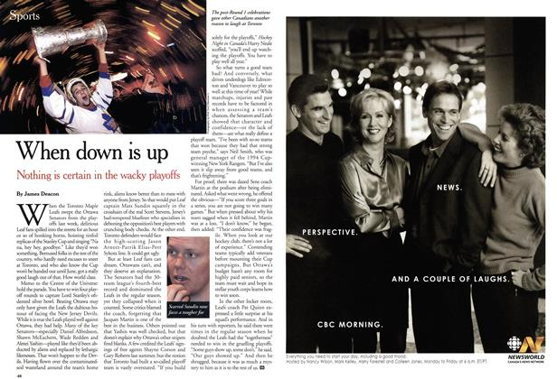 Article Preview: When down is up, April 2001 | Maclean's
