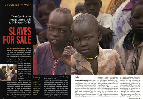Article Preview: SLAVES FOR SALE, May 2001 | Maclean's