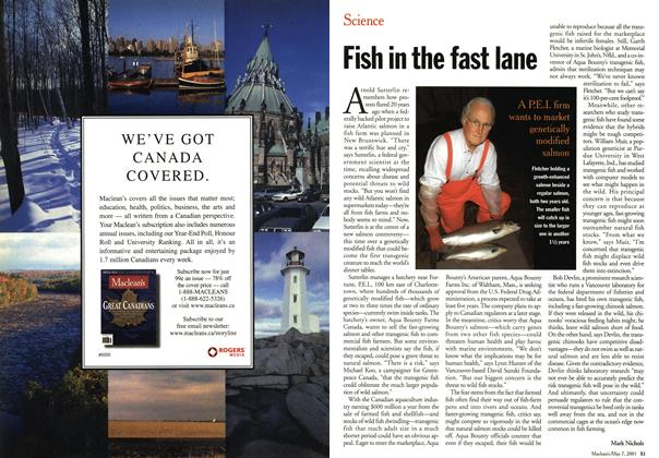 Article Preview: Fish in the fast lane, May 2001 | Maclean's