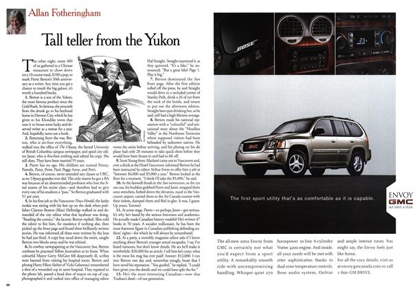 Article Preview: Tall teller from the Yukon, May 2001 | Maclean's