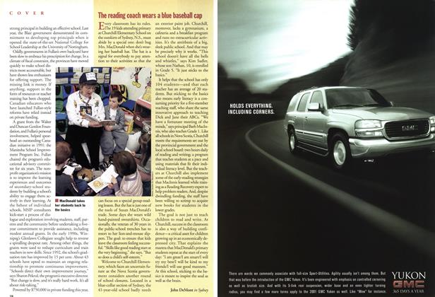 Article Preview: The reading coach wears a blue baseball cap, May 2001 | Maclean's