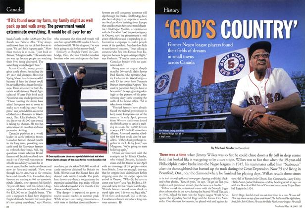 Article Preview: 'GOD'S COUNTRY', May 2001 | Maclean's