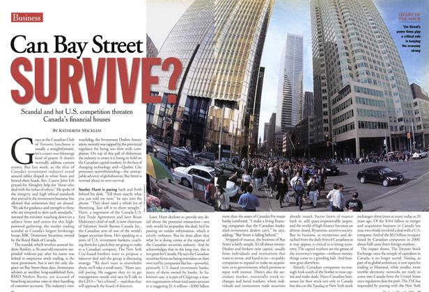 Article Preview: Can Bay Street SURVIVE?, May 2001 | Maclean's