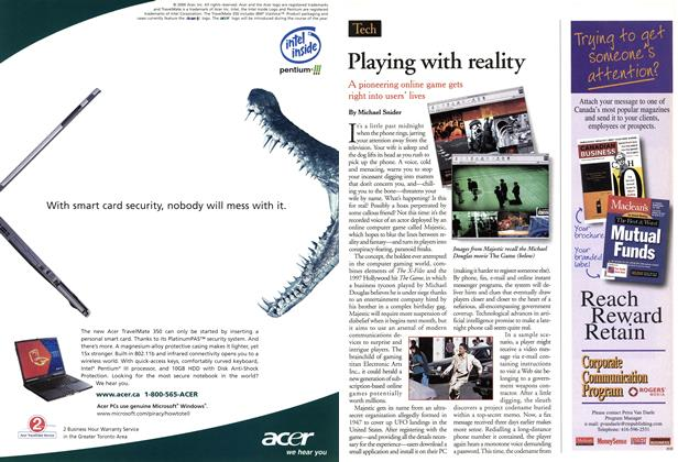 Article Preview: Playing with reality, May 2001 | Maclean's
