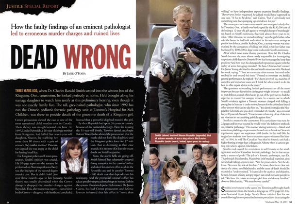 Article Preview: DEAD WRONG, May 2001 | Maclean's