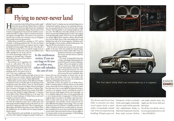 Article Preview: Flying to never-never land, May 2001 | Maclean's