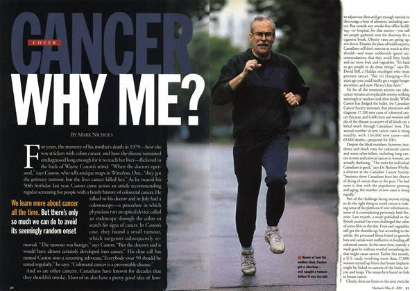 Article Preview: CANCER WHY ME?, May 2001 | Maclean's