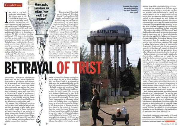 Article Preview: BETRAYAL OF TRUST, May 2001 | Maclean's