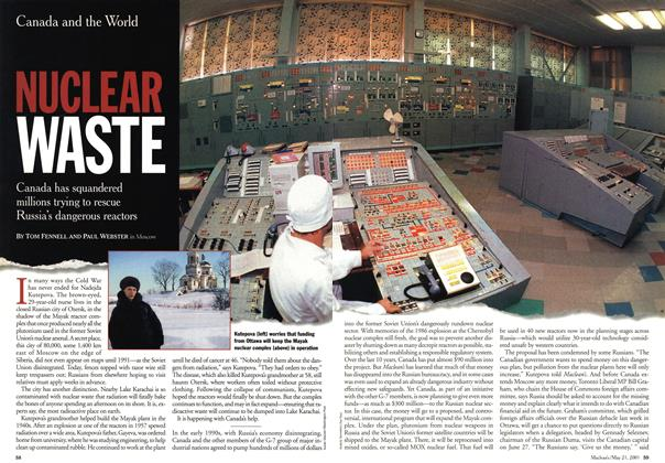 Article Preview: NUCLEAR WASTE, May 2001 | Maclean's