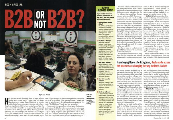 Article Preview: B2B OR NOT B2B?, May 2001 | Maclean's