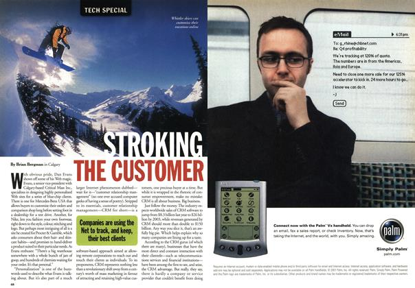 Article Preview: STROKING THE CUSTOMER, May 2001 | Maclean's