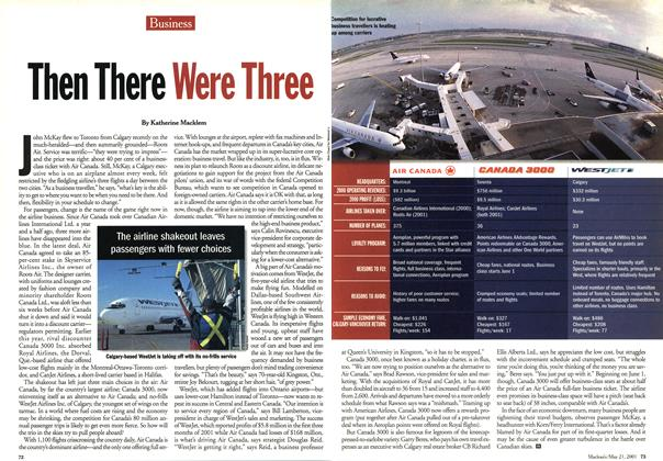 Article Preview: Then Then Were Three, May 2001 | Maclean's