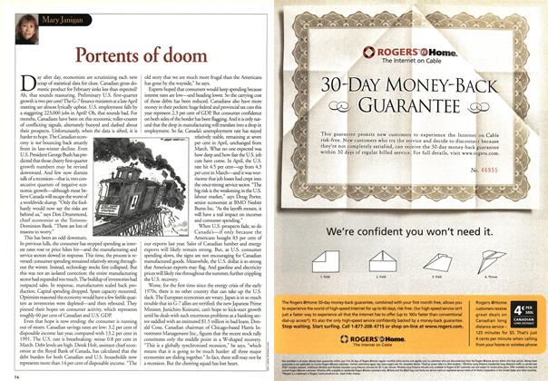 Article Preview: Portents of doom, May 2001 | Maclean's