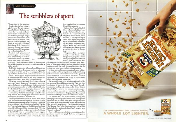 Article Preview: The scribblers of sport, May 2001 | Maclean's