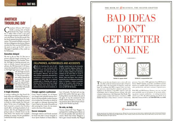Article Preview: ANOTHER TROUBLING DAY, May 2001   Maclean's