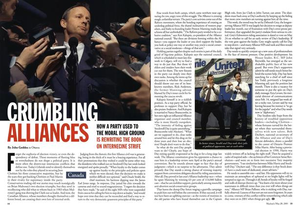 Article Preview: CRUMBLING ALLIANCES, May 28,2001 2001 | Maclean's