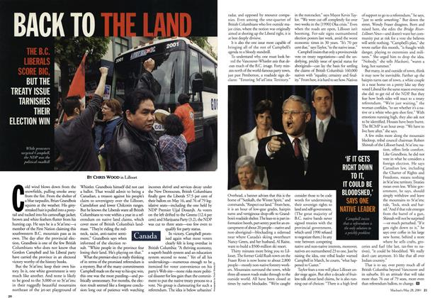 Article Preview: BACK TO THE LAND, May 28,2001 2001 | Maclean's