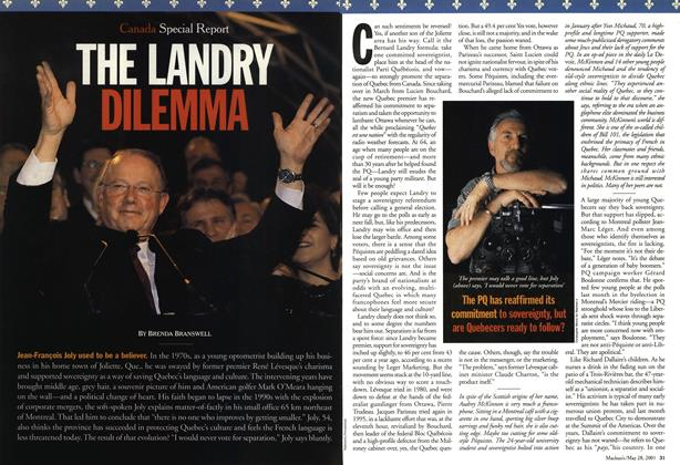 Article Preview: THE LANDRY DILEMMA, May 28,2001 2001 | Maclean's