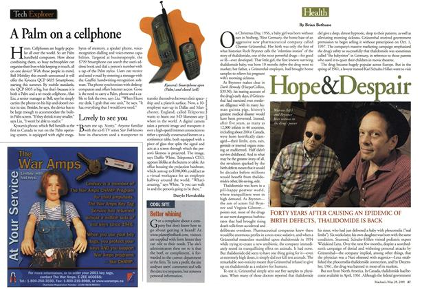 Article Preview: Hope & Despair, May 28,2001 2001 | Maclean's