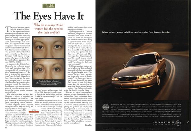 Article Preview: The Eyes Have It, May 28,2001 2001   Maclean's