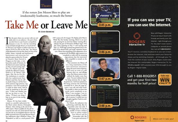 Article Preview: Take Me or Leave Me, May 28,2001 2001 | Maclean's